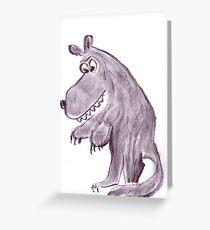 Frightening werwolf Greeting Card