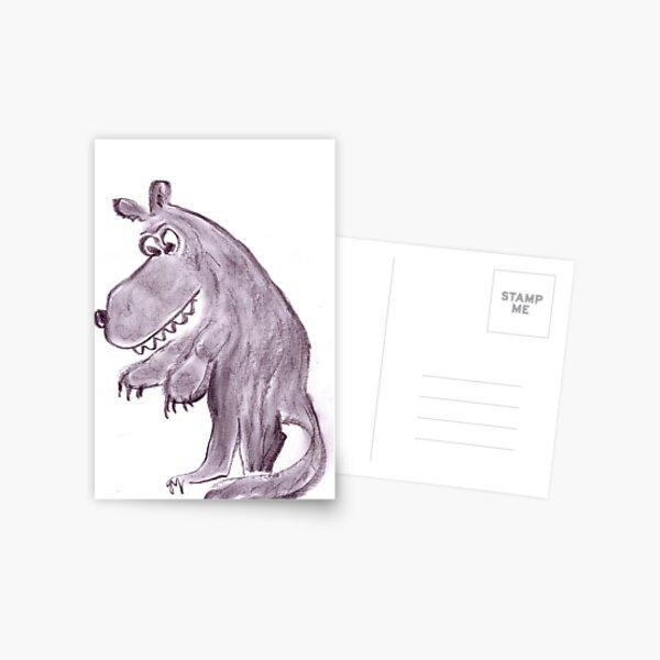 Frightening werwolf Postcard