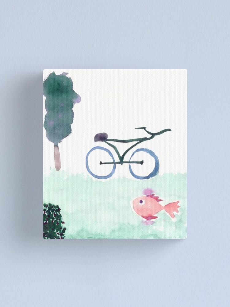 Alternate view of bike & fish Canvas Print
