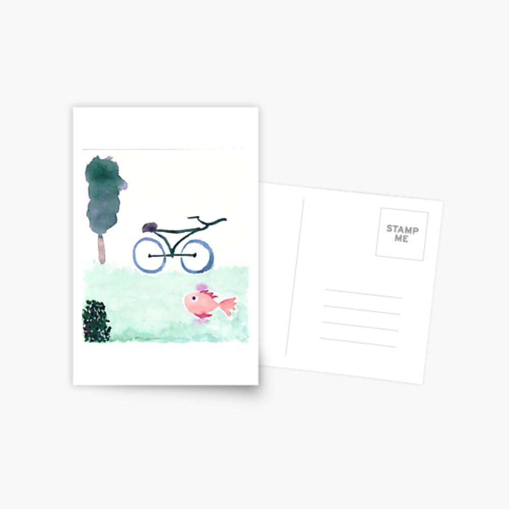 bike & fish Postcard