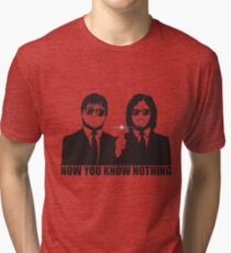 NOW YOU KNOW NOTHING Tri-blend T-Shirt