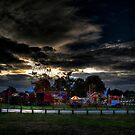 Fun Fair at Dusk by Nigel Bangert