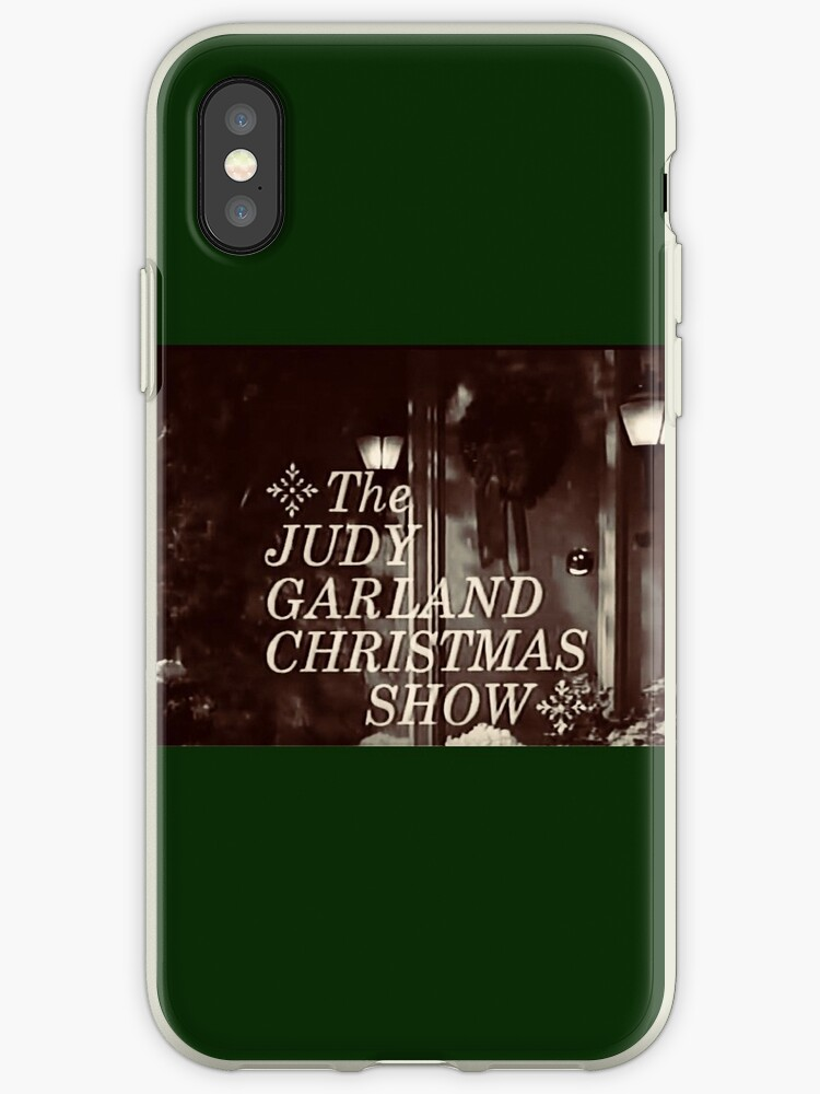 Opening Titles For The Judy Garland Christmas Show Iphone Case By Jenniferkate72