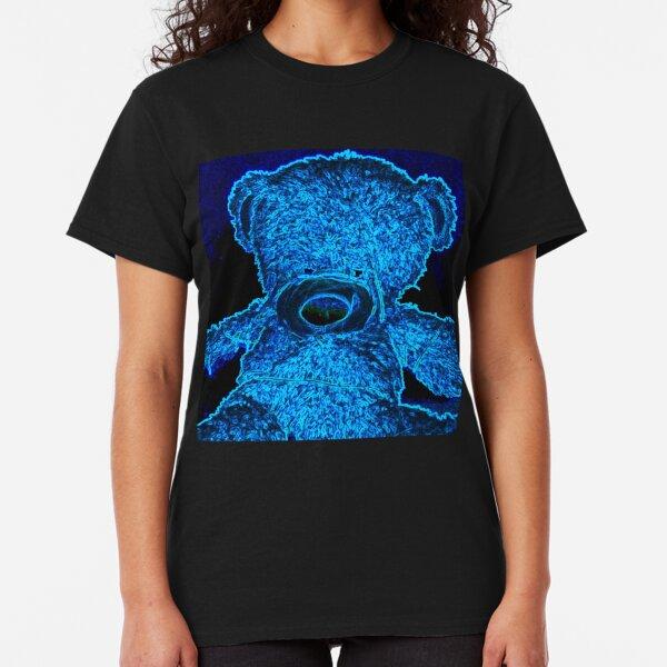 Blue Neon Bear Classic T-Shirt