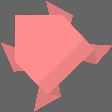 Red Origami Frog by Rocket-To-Pluto