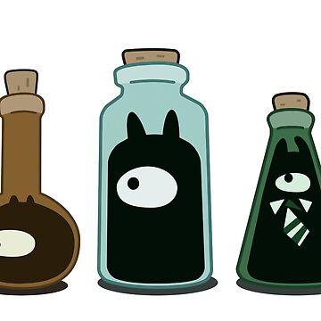 Disenchantment Demon Jars by misterpillows