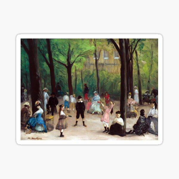 William Glackens Luxembourg Gardens Sticker