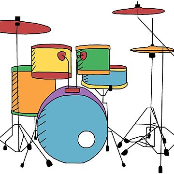 Pastel Drumset by Rocket-To-Pluto