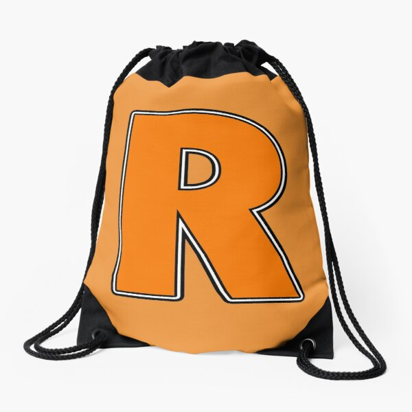 Pride! Letters - R (Orange) Drawstring Bag