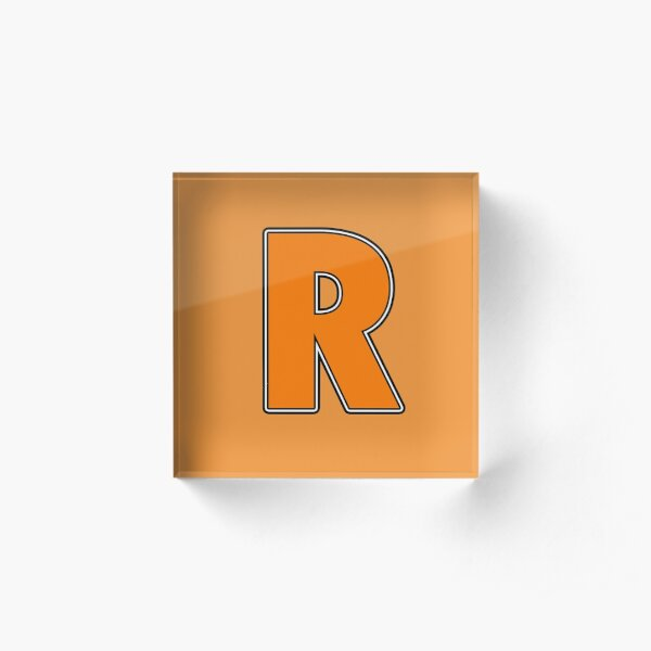 Pride! Letters - R (Orange) Acrylic Block