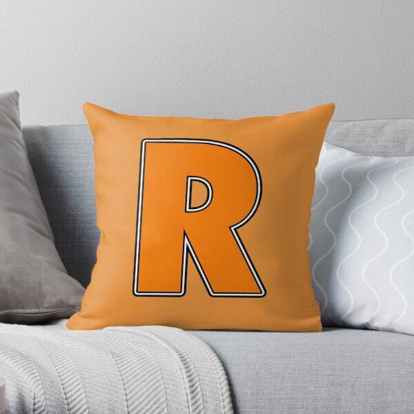 Pride! Letters - R (Orange) Throw Pillow