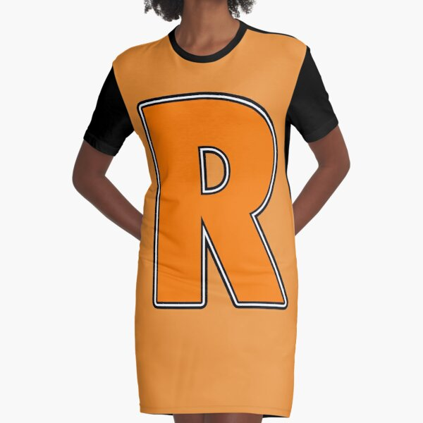Pride! Letters - R (Orange) Graphic T-Shirt Dress