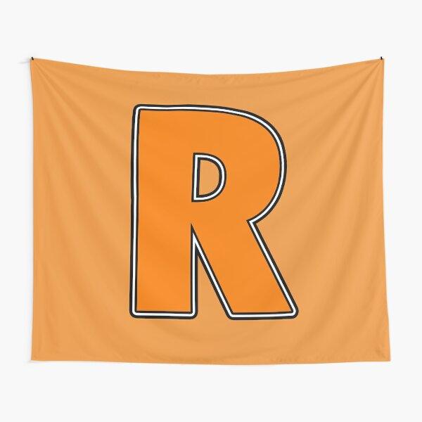 Pride! Letters - R (Orange) Tapestry