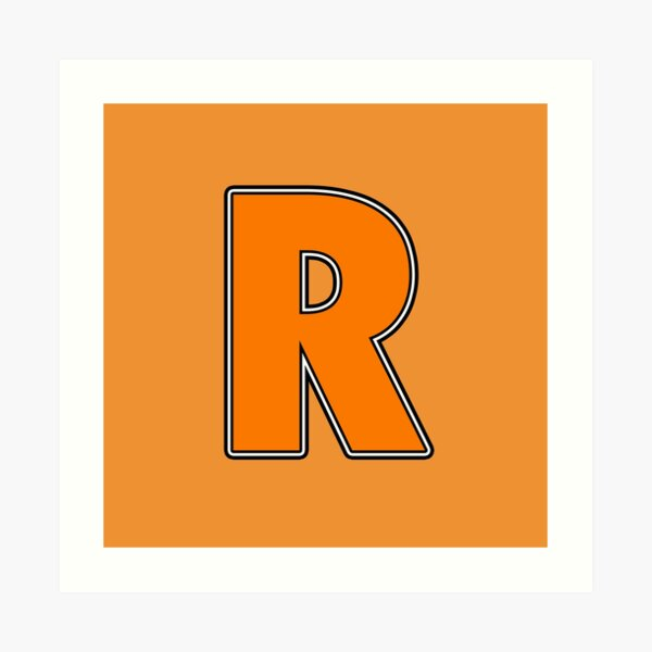 Pride! Letters - R (Orange) Art Print