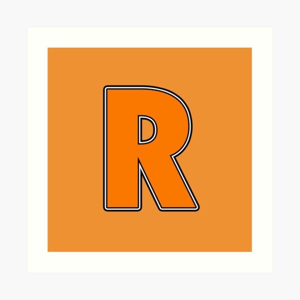 Pride! Letters - R (Orange) Art Print