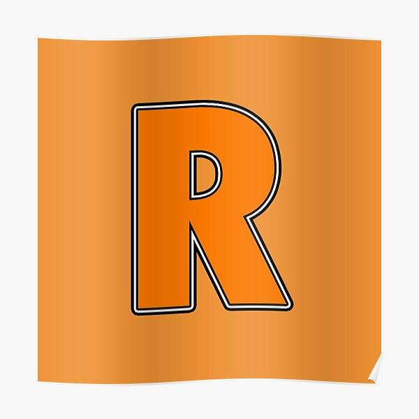 Pride! Letters - R (Orange) Poster