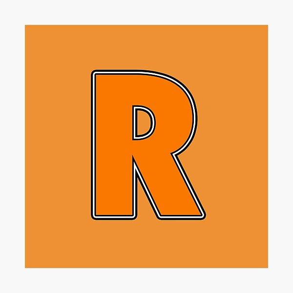 Pride! Letters - R (Orange) Photographic Print