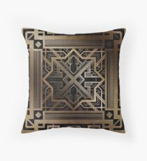 Art deco,gold,black,vintage,chic,elegant,1920 era,The Great Gatsby,modern,trendy,decorative Throw Pillow