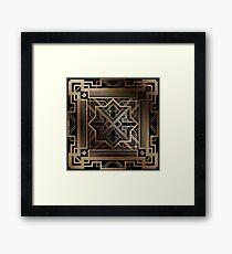 Art deco,gold,black,vintage,chic,elegant,1920 era,The Great Gatsby,modern,trendy,decorative Framed Print
