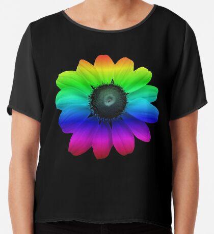 wunderschöne bunte Blume, Regenbogen, Blüte, Natur, bunt Chiffontop