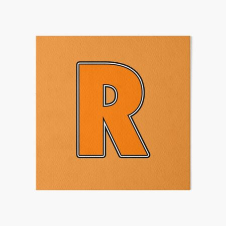 Pride! Letters - R (Orange) Art Board Print