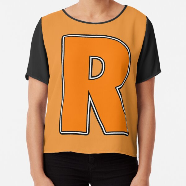 Pride! Letters - R (Orange) Chiffon Top