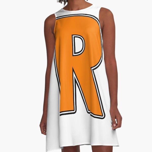 Pride! Letters - R (Orange) A-Line Dress