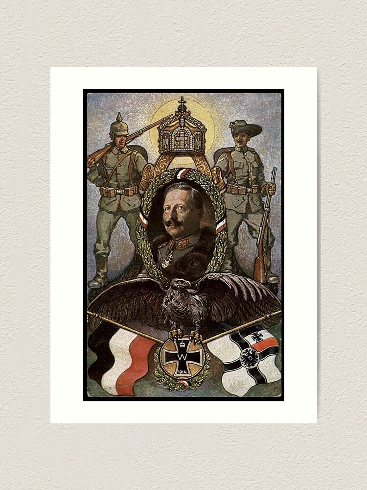 Alternate view of WWI 1914 German patriotic symbols Art Print