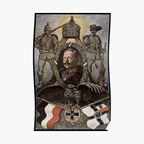 WWI 1914 German patriotic symbols Poster