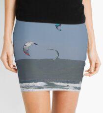 Kitesurfing in the Ocean - Three kites in the distance Mini Skirt