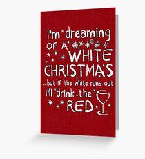 Tarjeta de felicitación Soñando con una blanca Navidad