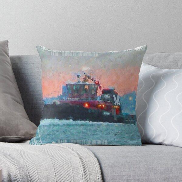 2018 Moran Tug  City Throw Pillow
