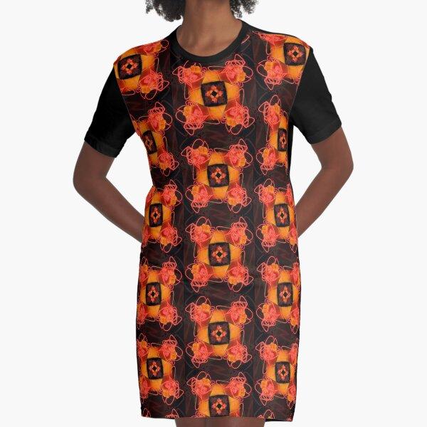 Neon hand wreath Graphic T-Shirt Dress