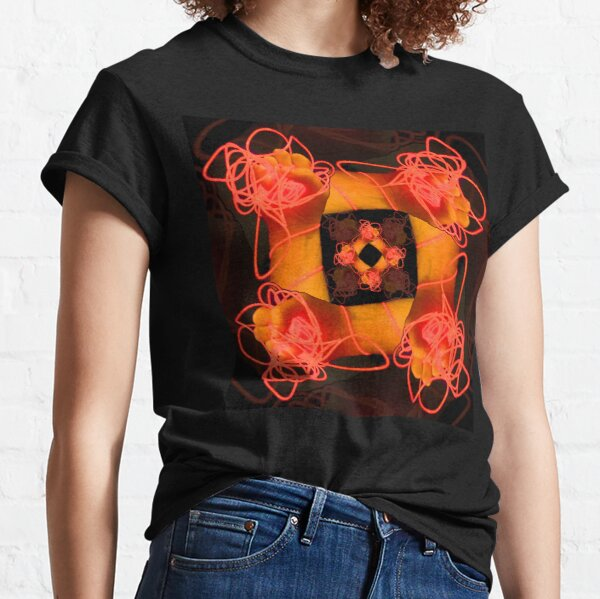 Neon hand wreath Classic T-Shirt