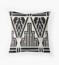 Art deco,gold,black,geometric,metallic,digital photo,original,pattern,vintage,1920 era Throw Pillow