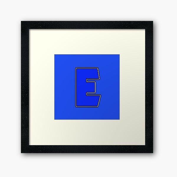 Pride! Letters - E (Blue) Framed Art Print