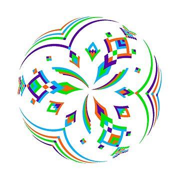 Mandala 02 - Colorful by Cybarxz