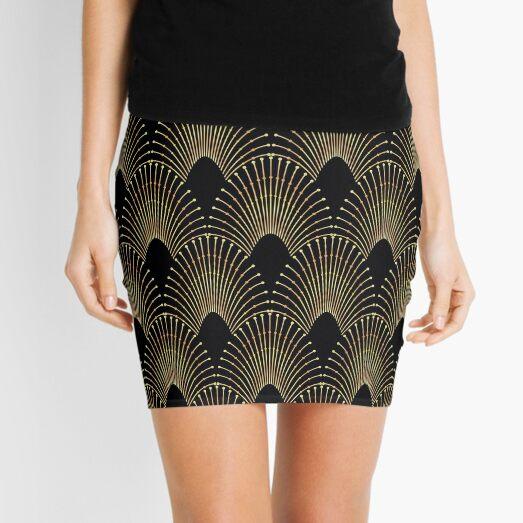 Art deco,gold,black,chic,elegant,1920's,great the Gatsby,pattern Mini Skirt