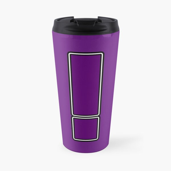 Pride! Letters - ! (Purple) Travel Mug