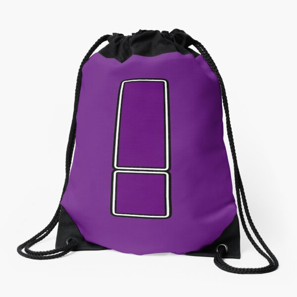 Pride! Letters - ! (Purple) Drawstring Bag