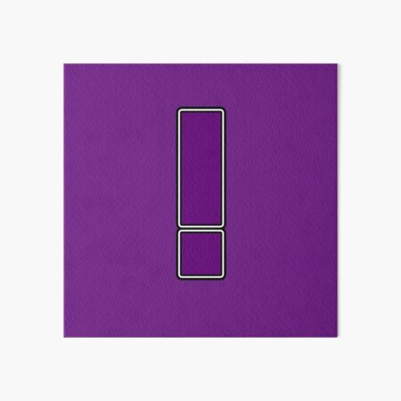 Pride! Letters - ! (Purple) Art Board Print
