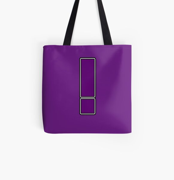 Pride! Letters - ! (Purple) All Over Print Tote Bag