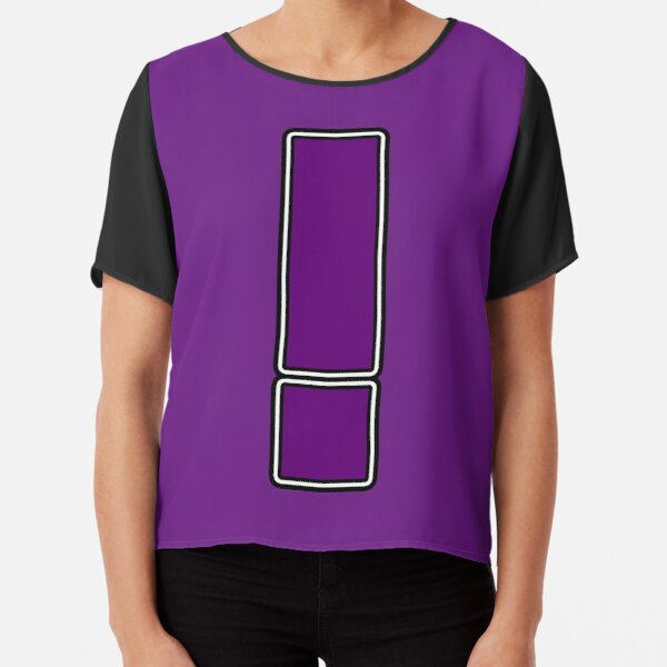 Pride! Letters - ! (Purple) Chiffon Top