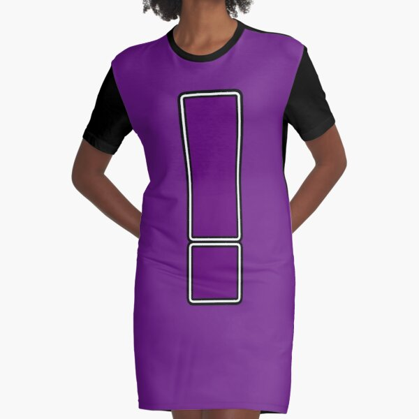 Pride! Letters - ! (Purple) Graphic T-Shirt Dress