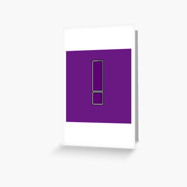 Pride! Letters - ! (Purple) Greeting Card