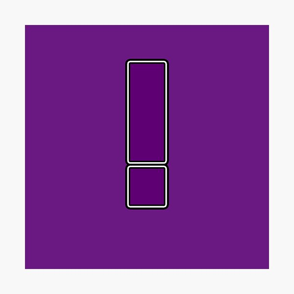 Pride! Letters - ! (Purple) Photographic Print