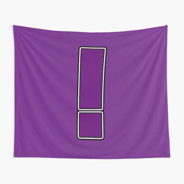 Pride! Letters - ! (Purple) Tapestry