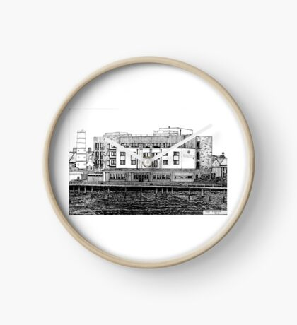 281 - COMMISSIONERS QUAY, BLYTH - DAVE EDWARDS - INK - 2018 Clock