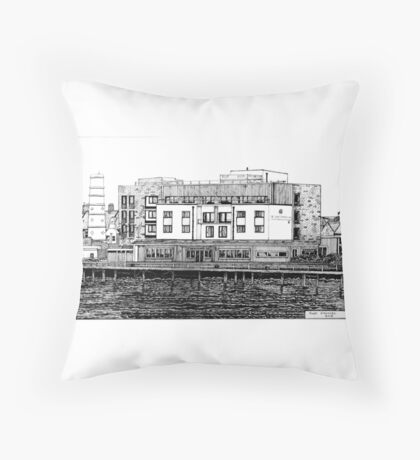 281 - COMMISSIONERS QUAY, BLYTH - DAVE EDWARDS - INK - 2018 Throw Pillow