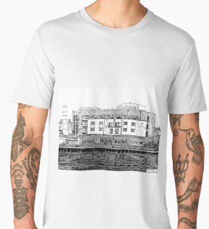 281 - COMMISSIONERS QUAY, BLYTH - DAVE EDWARDS - INK - 2018 Men's Premium T-Shirt